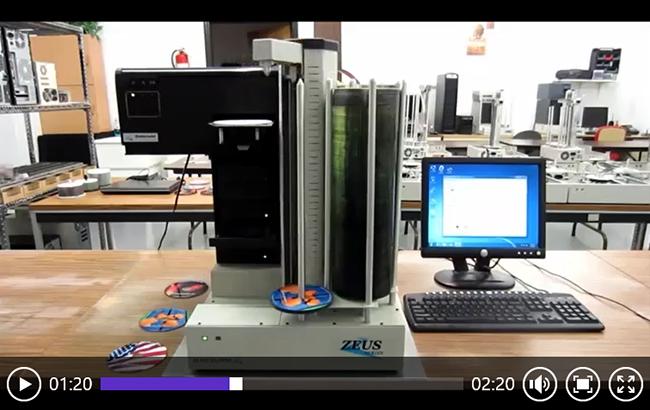 宙斯4E光盘打印刻录机工作视频
